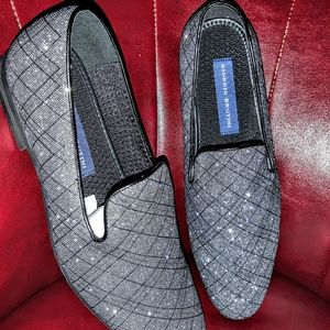 TUXEDO SILVER SPARKLING LOAFERS